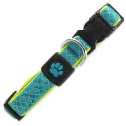 Obroża ACTIV DOG Fluffy Reflective turkusowa S