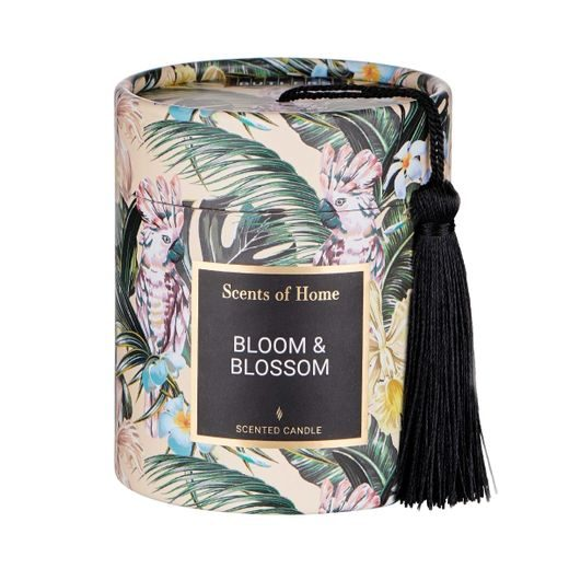 SCENTS OF HOME ILLATGYERTYA, BLOOM & BLOSSOM 8CM