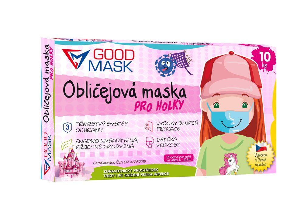 Dětské ochranné roušky pro holky - 10 ks
