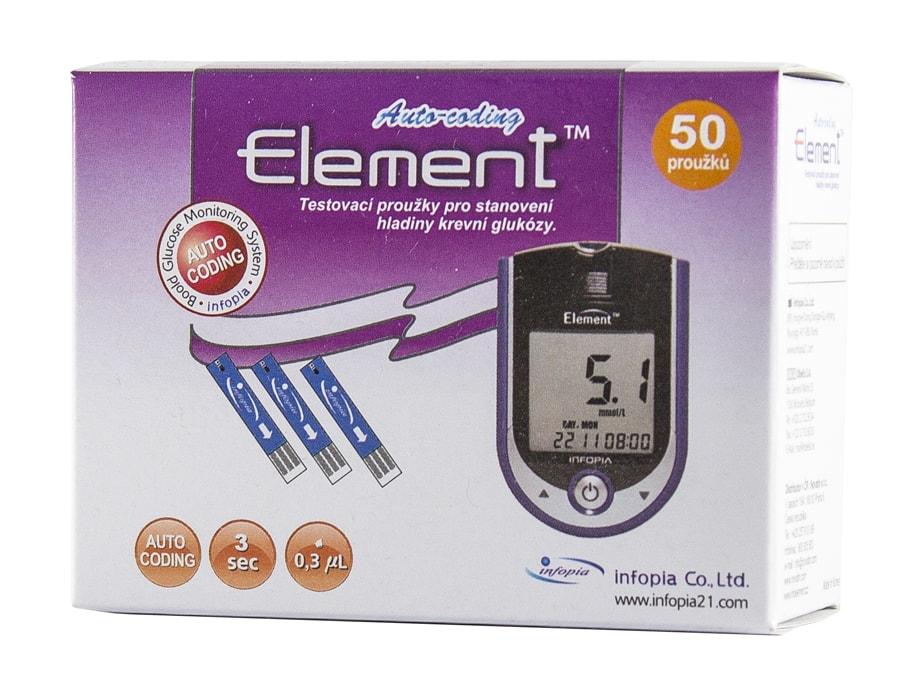 Testovací proužky Element 50ks