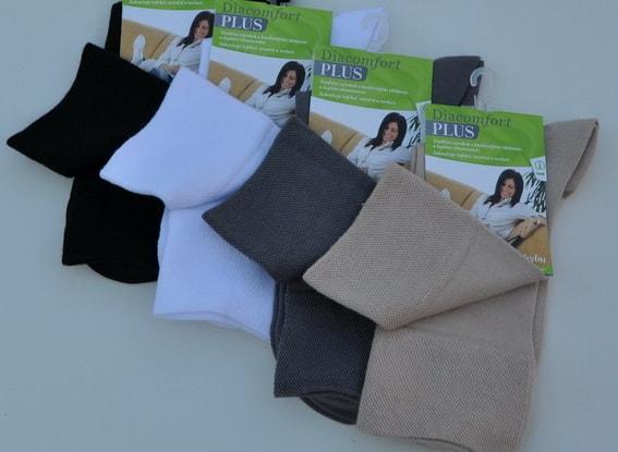 Levně Ponožky zdravotní DIACOMFORT PLUS - Velikost 25-27 barva bílá dámské