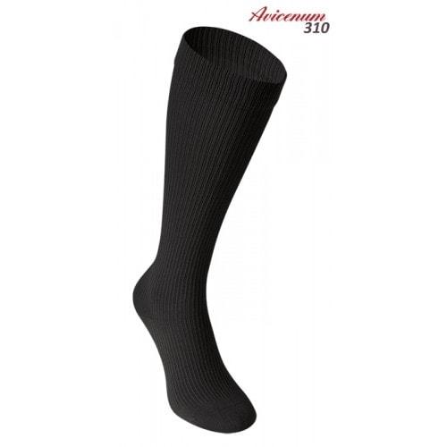 Levně Podkolenky Avicenum 310 - bavlněné kompresivní - černá barva velikost 39-41