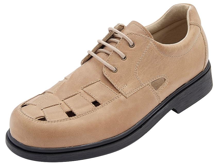 Levně Diabetická obuv Adam pánská - 42 (délka nohy 270 mm) světle béžová
