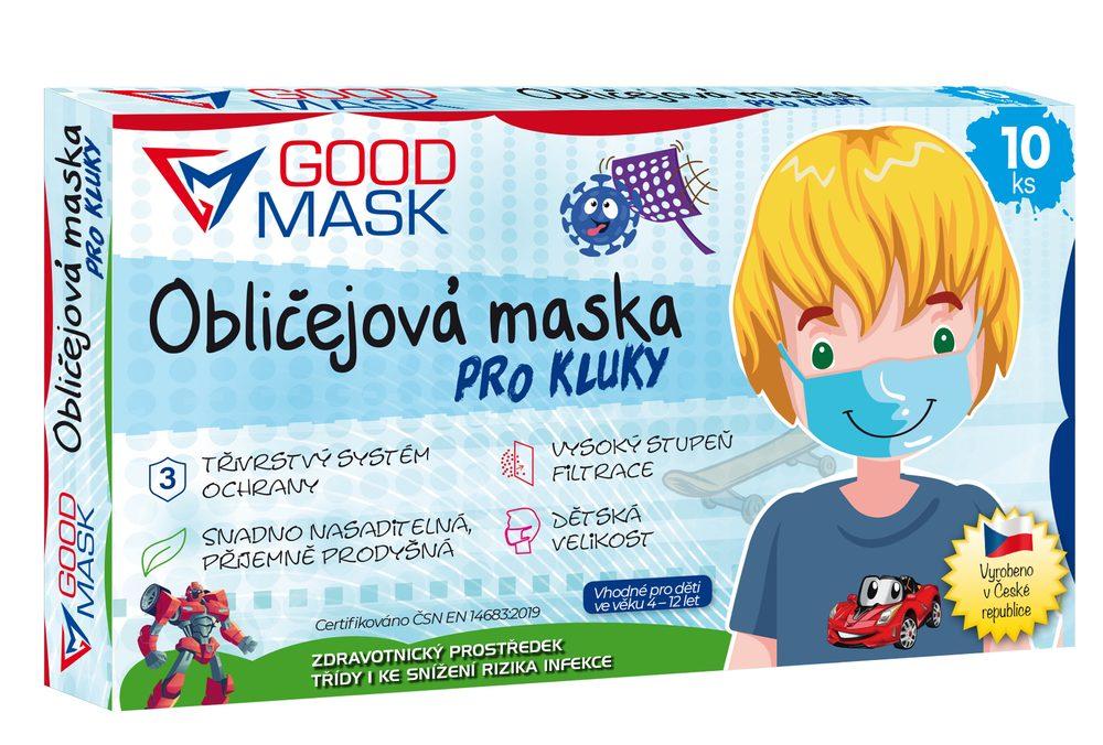 Dětské ochranné roušky pro kluky - 10 ks