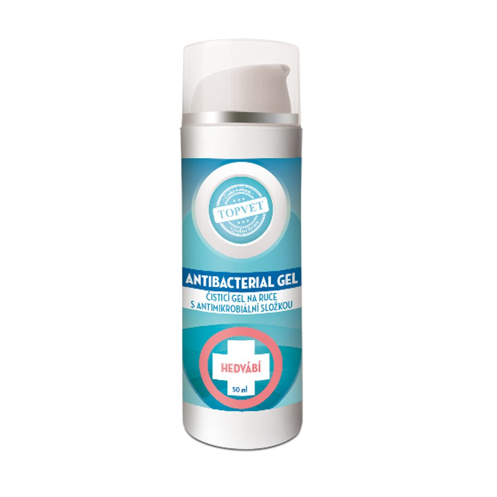 Antibakteriální gel na ruce - hedvábí Topvet 50ml