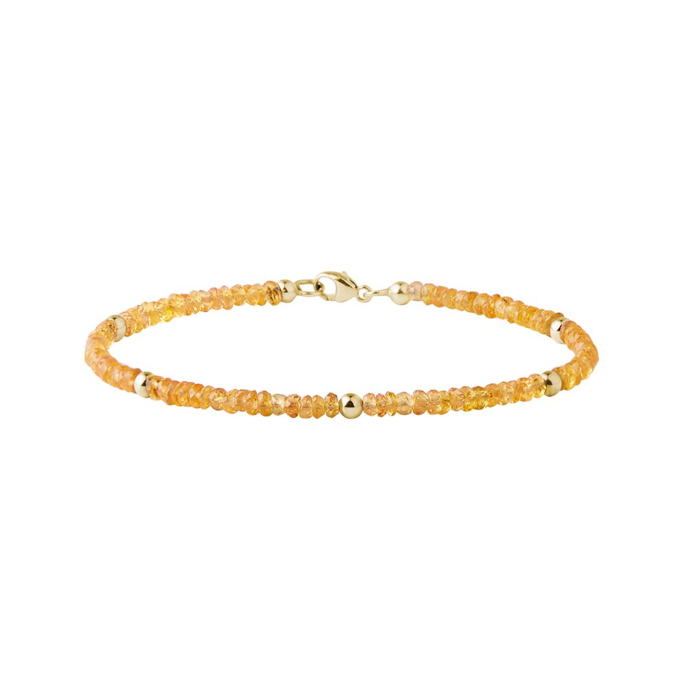 Náramek ze žlutých safírů ve zlatě KLENOTA