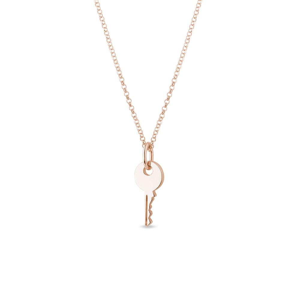 E-shop Přívěsek klíček z růžového zlata