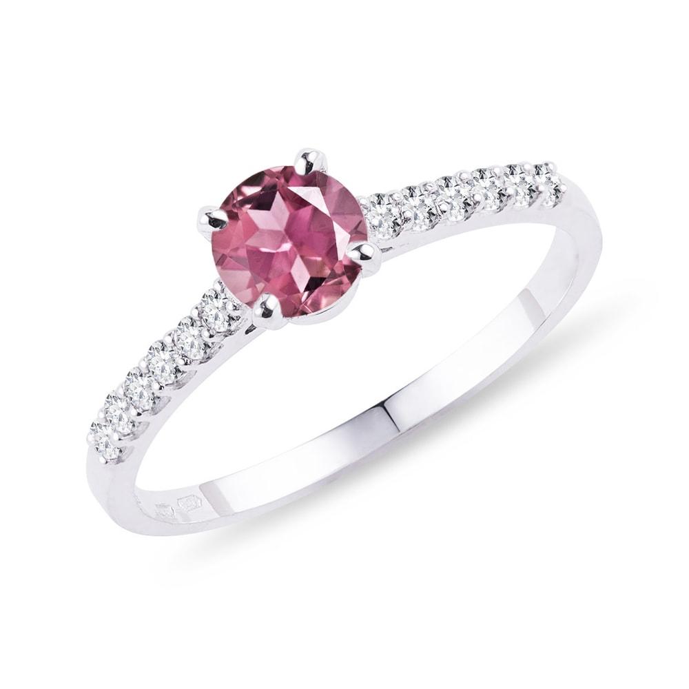 Zásnubní turmalínový prsten s diamanty KLENOTA