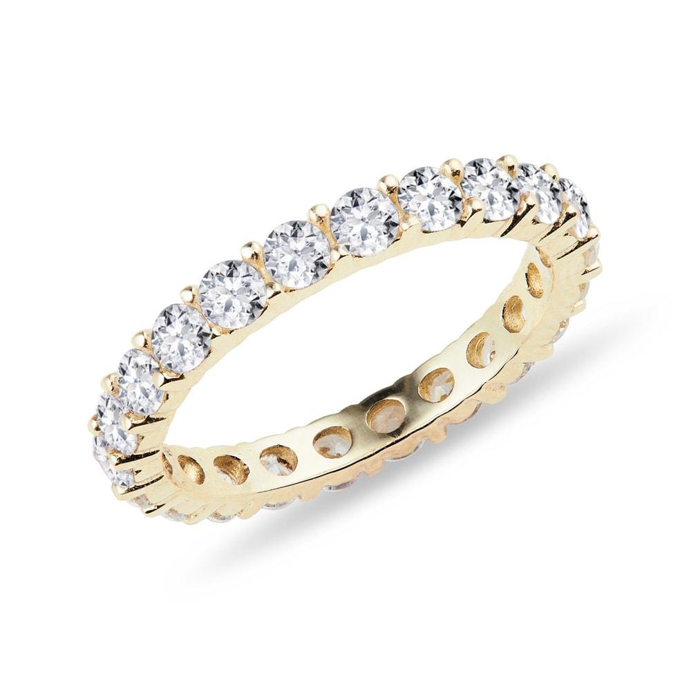Levně Briliantový eternity prsten ve zlatě