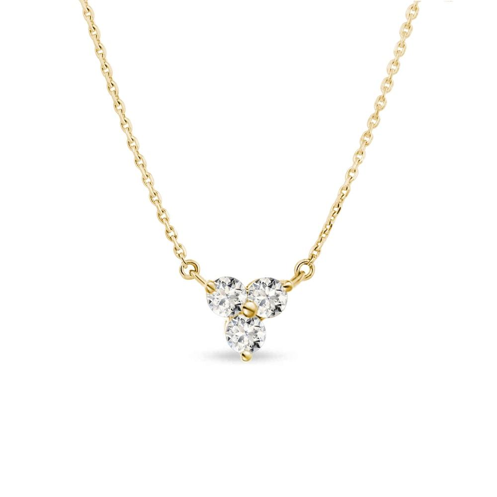 Diamantový náhrdelník ve zlatě KLENOTA