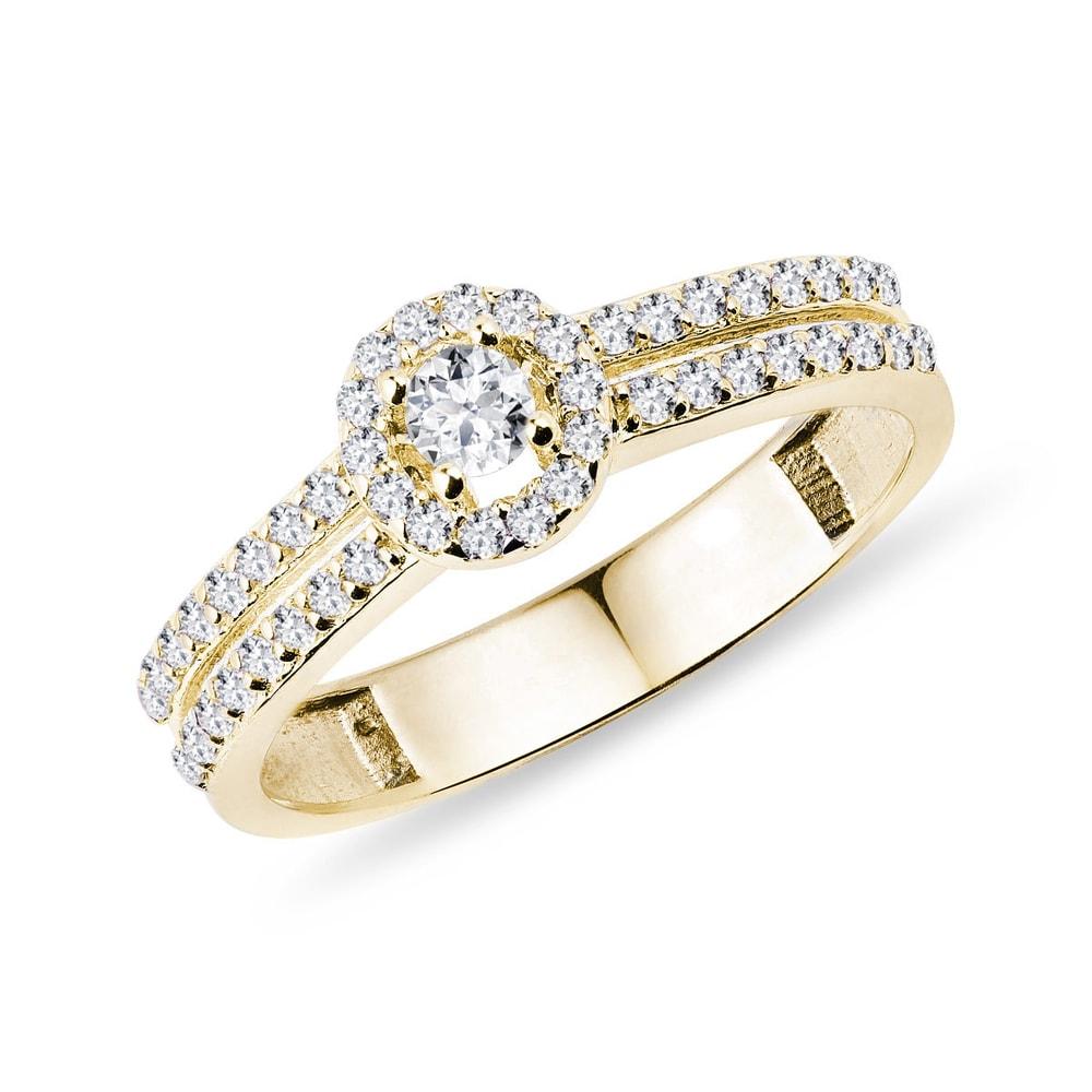 Zásnubní prsten s diamanty KLENOTA