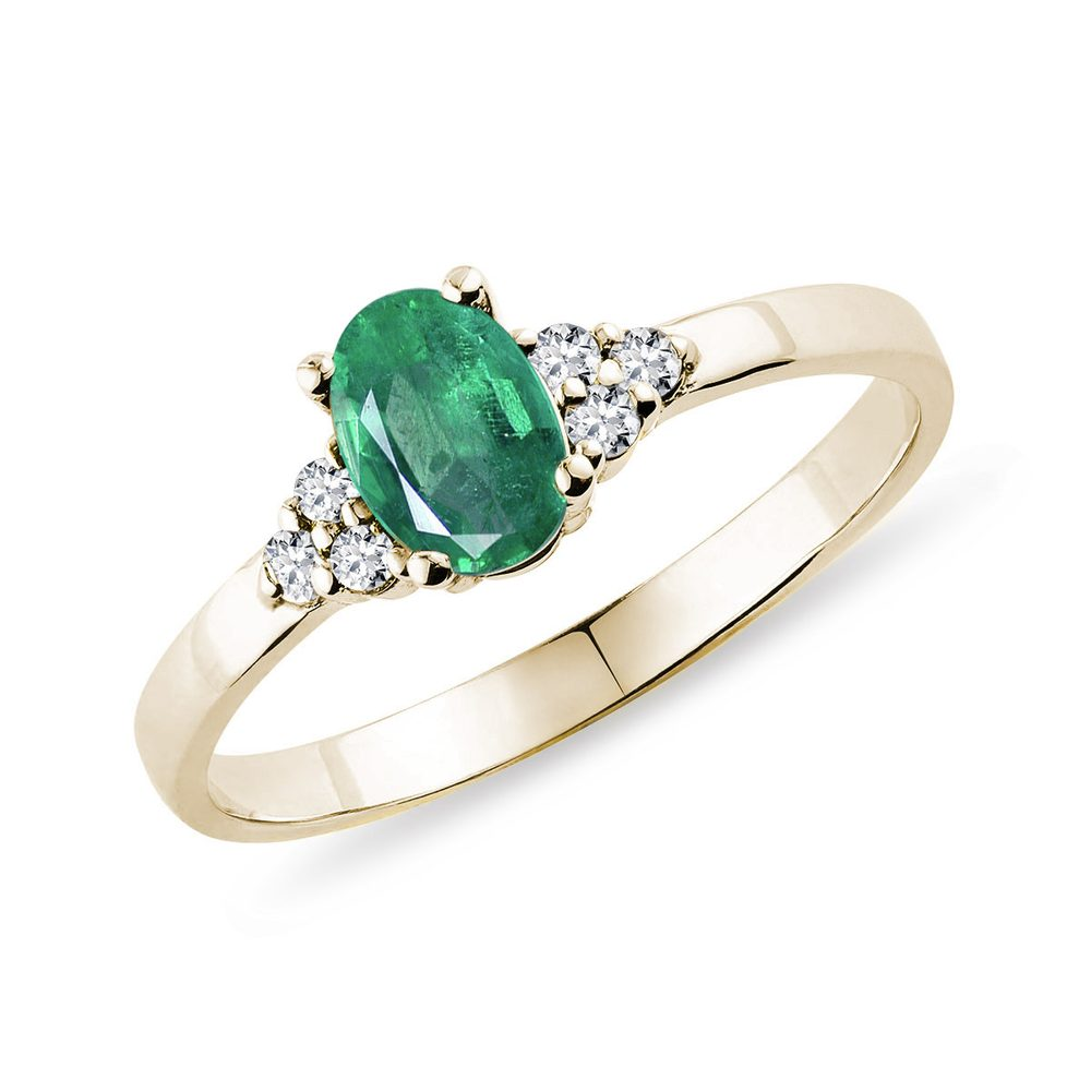 Zlatý prsten se smaragdem KLENOTA