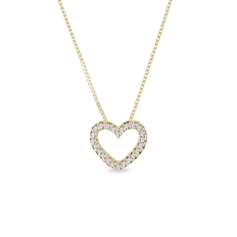 Náhrdelník ve tvaru diamantového srdce KLENOTA