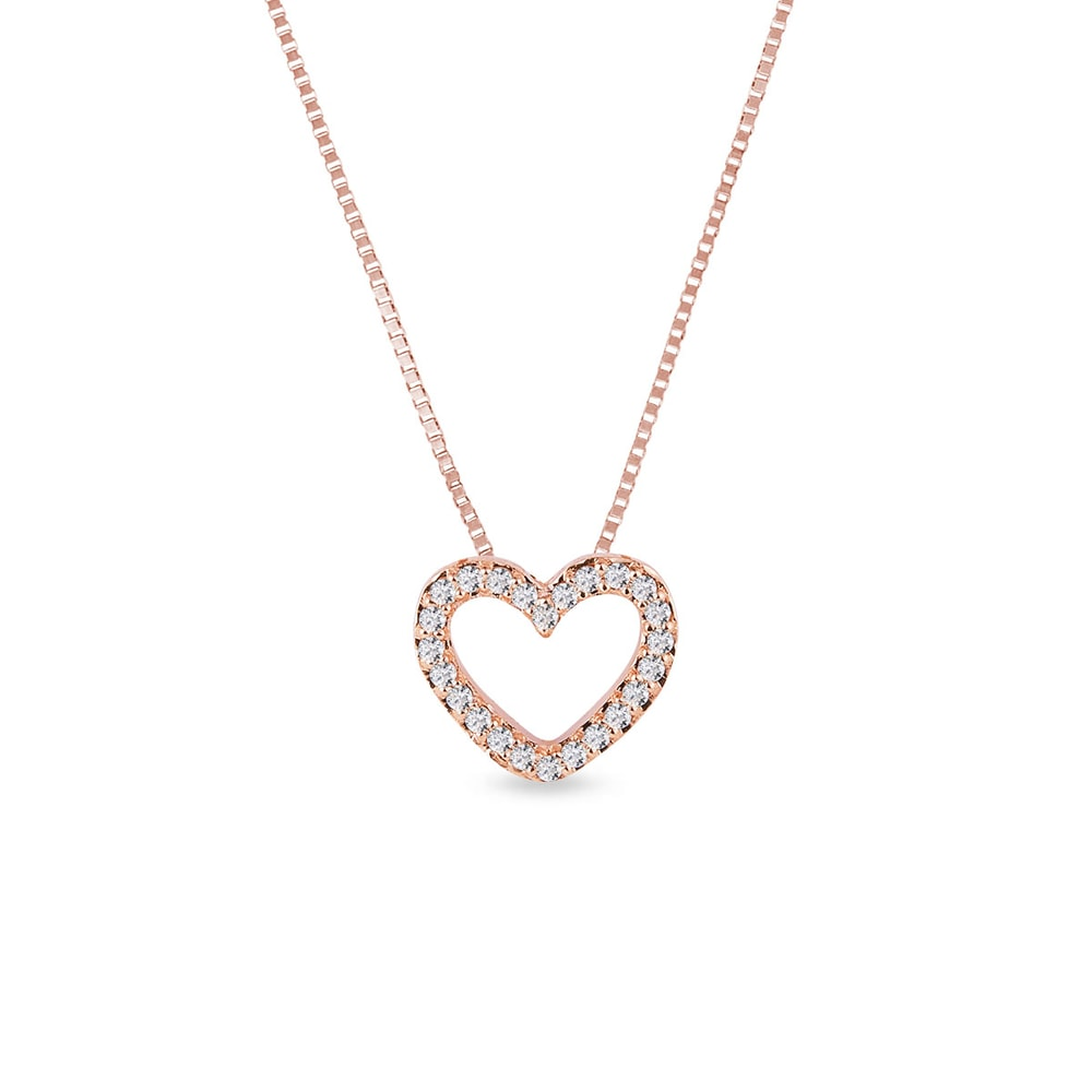 Diamantový náhrdelník ve tvaru srdce KLENOTA