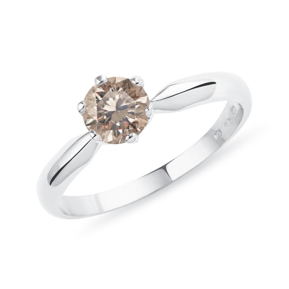 E-shop Zásnubní zlatý prsten s diamantem