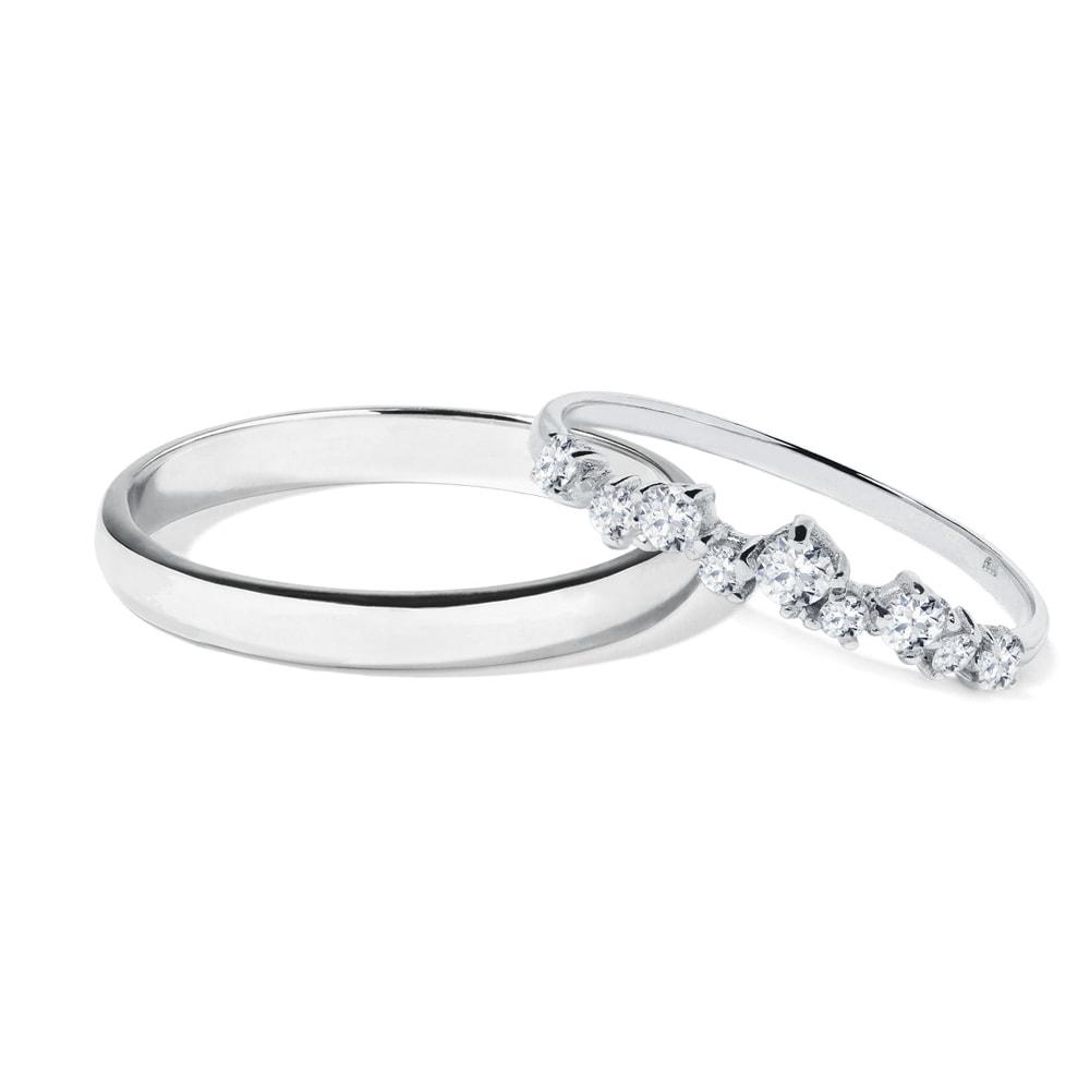 E-shop Snubní prsteny v bílém zlatě s brilianty