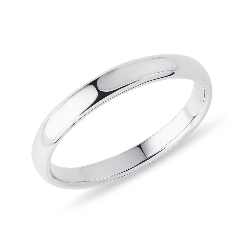 Snubní prsten z bílého zlata KLENOTA