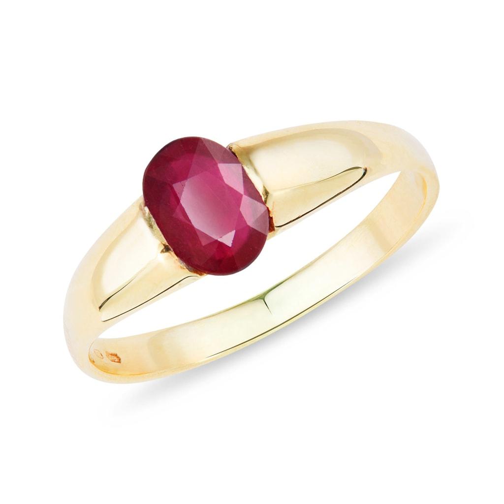 f49675c5b Zlatý prsteň s rubínom | KLENOTA