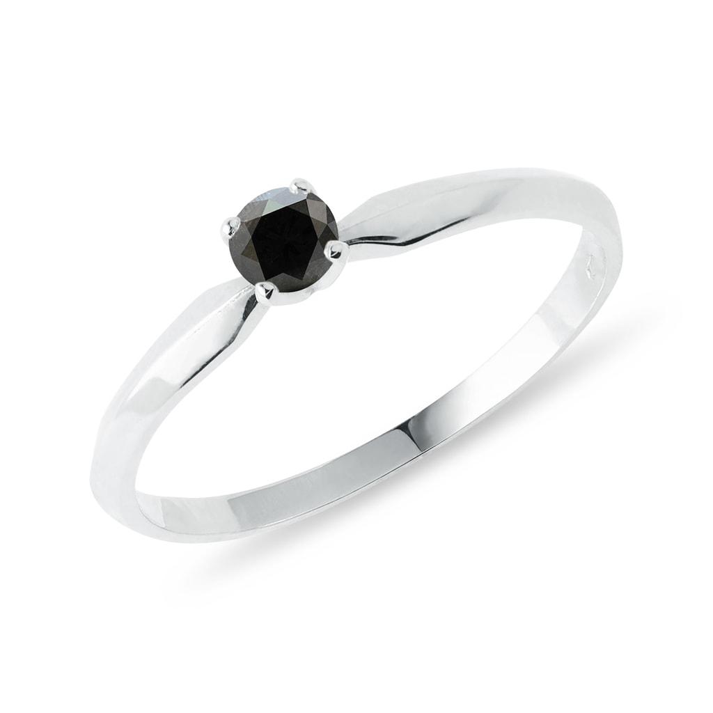 bague diamant noir femme