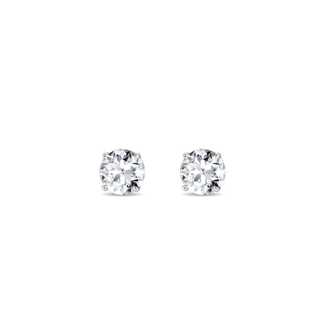 I1//HI Certified Round Diamond Gold Platinum Women Stud Earrings Multiple Carat