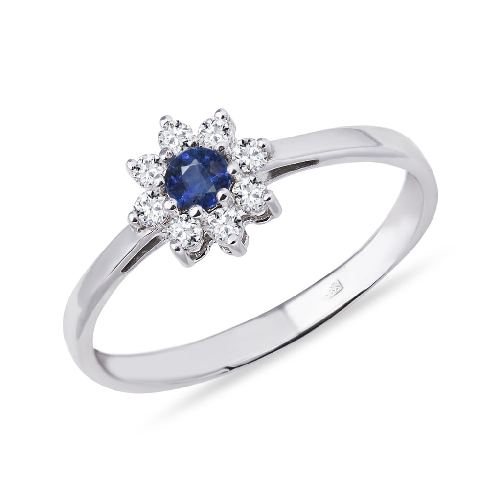 bague diamant forme fleur