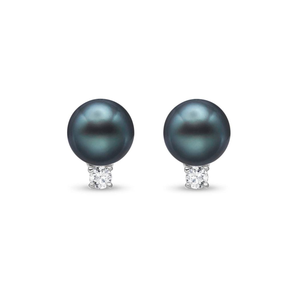 7734289b7 Náušnice z bieleho zlata s tahitskou perlou a diamantmi   KLENOTA