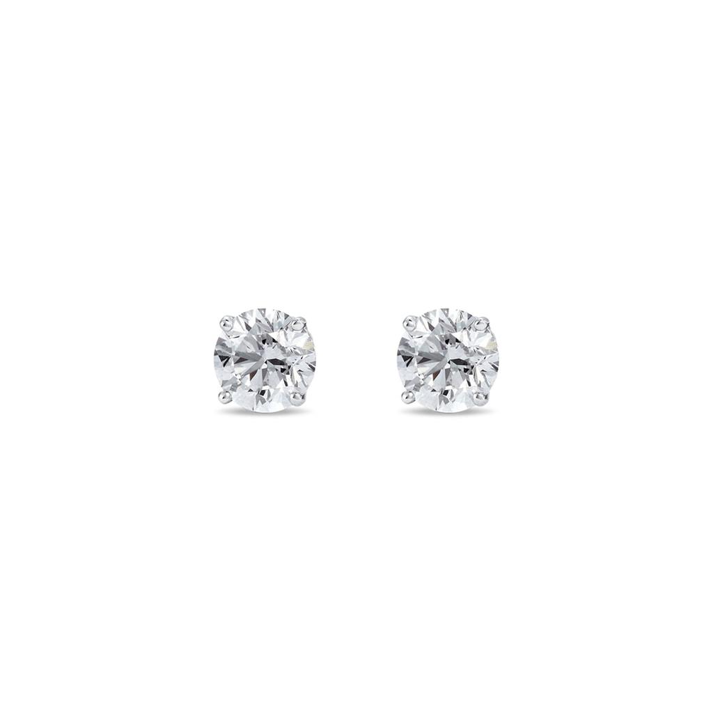 662ff3c80 Strieborné diamantové náušnice | KLENOTA