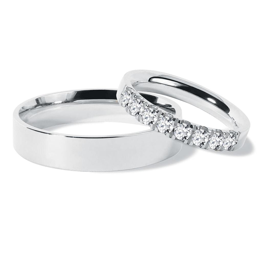 Diamant Eheringe in Weißgold