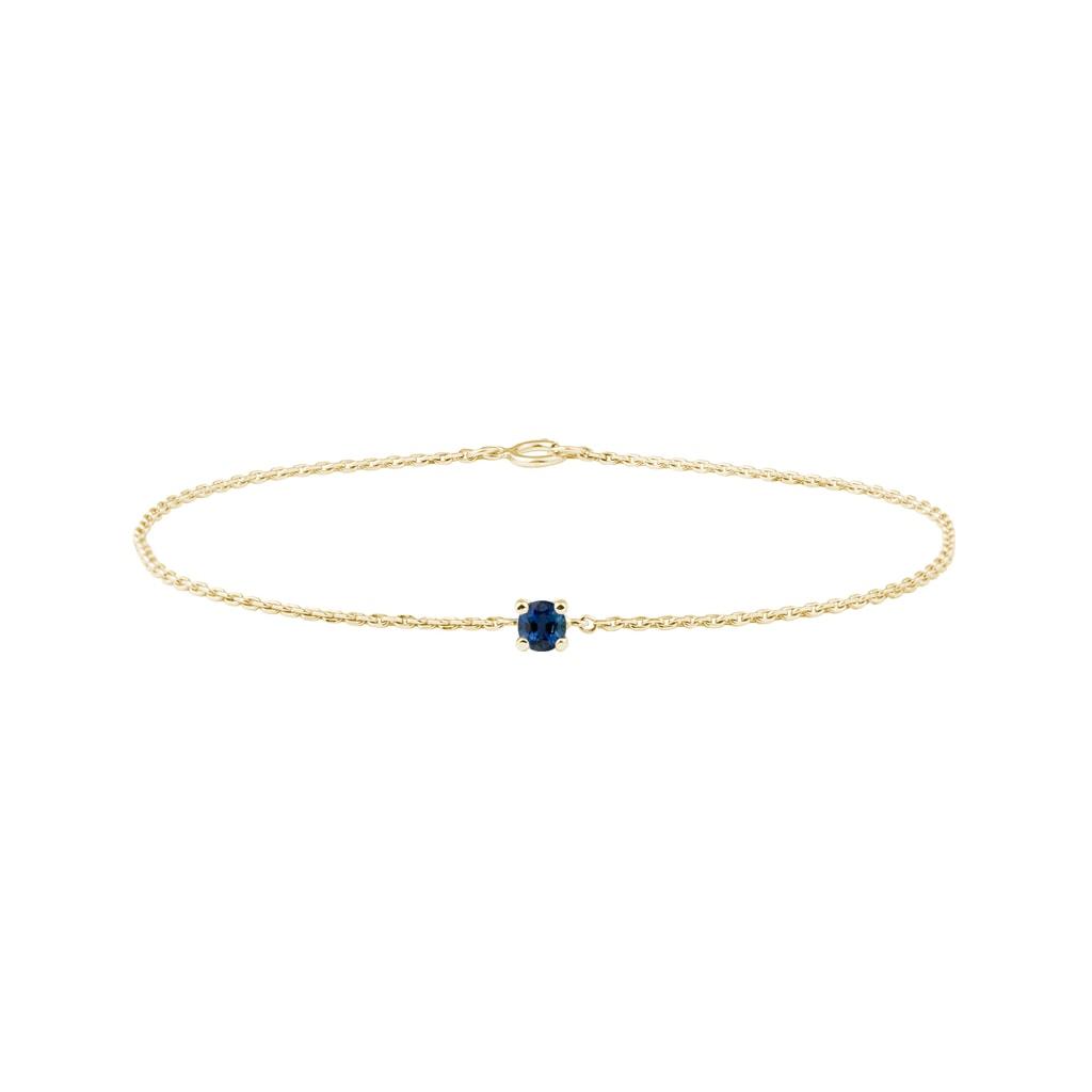 site réputé 54f76 63519 Bracelet en or avec saphir bleu