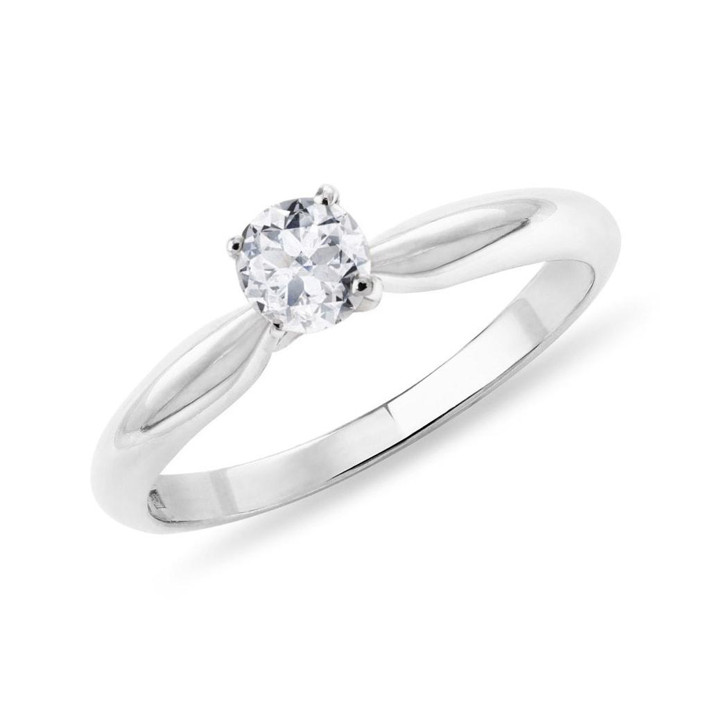 85129acf8 Zásnubný prsteň z bieleho zlata   KLENOTA