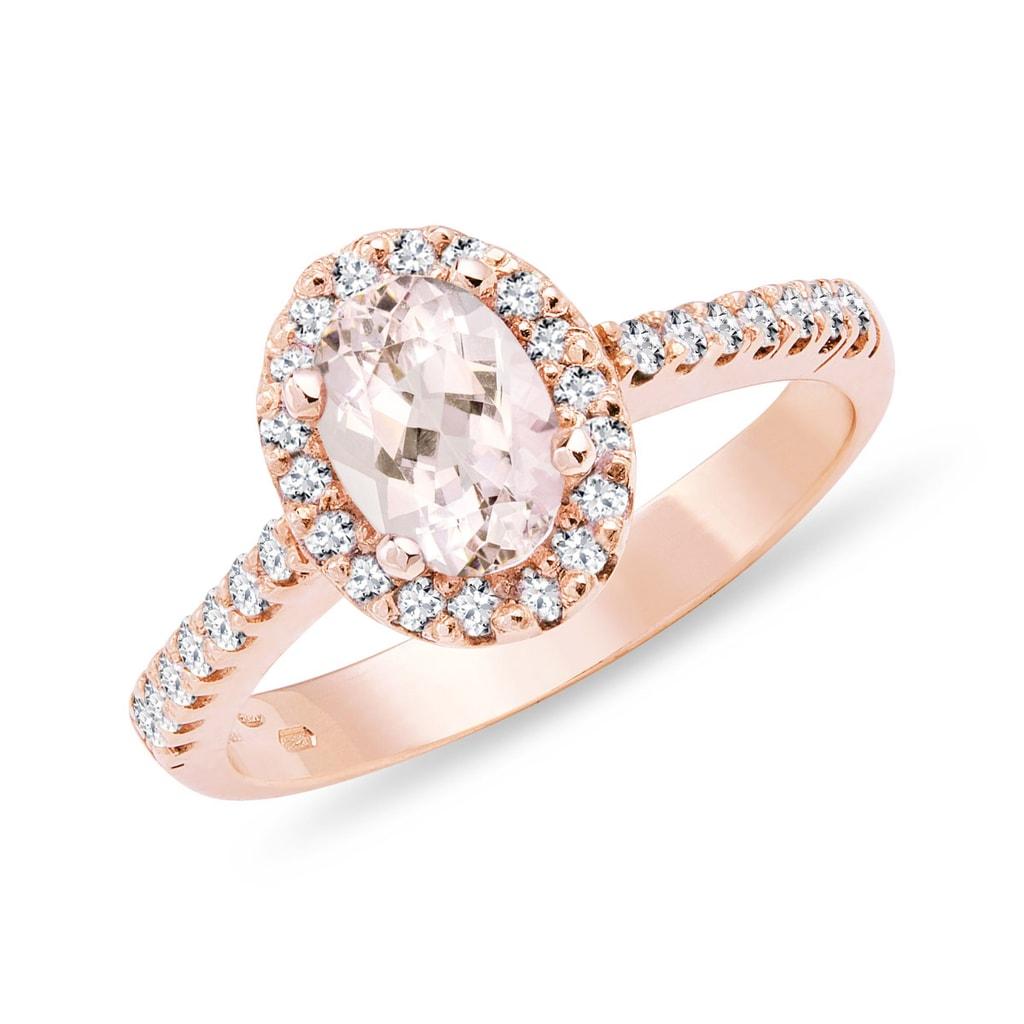 95eaf6c52c6d86 Pierścionek zaręczynowy z morganitem w różowym złocie | KLENOTA