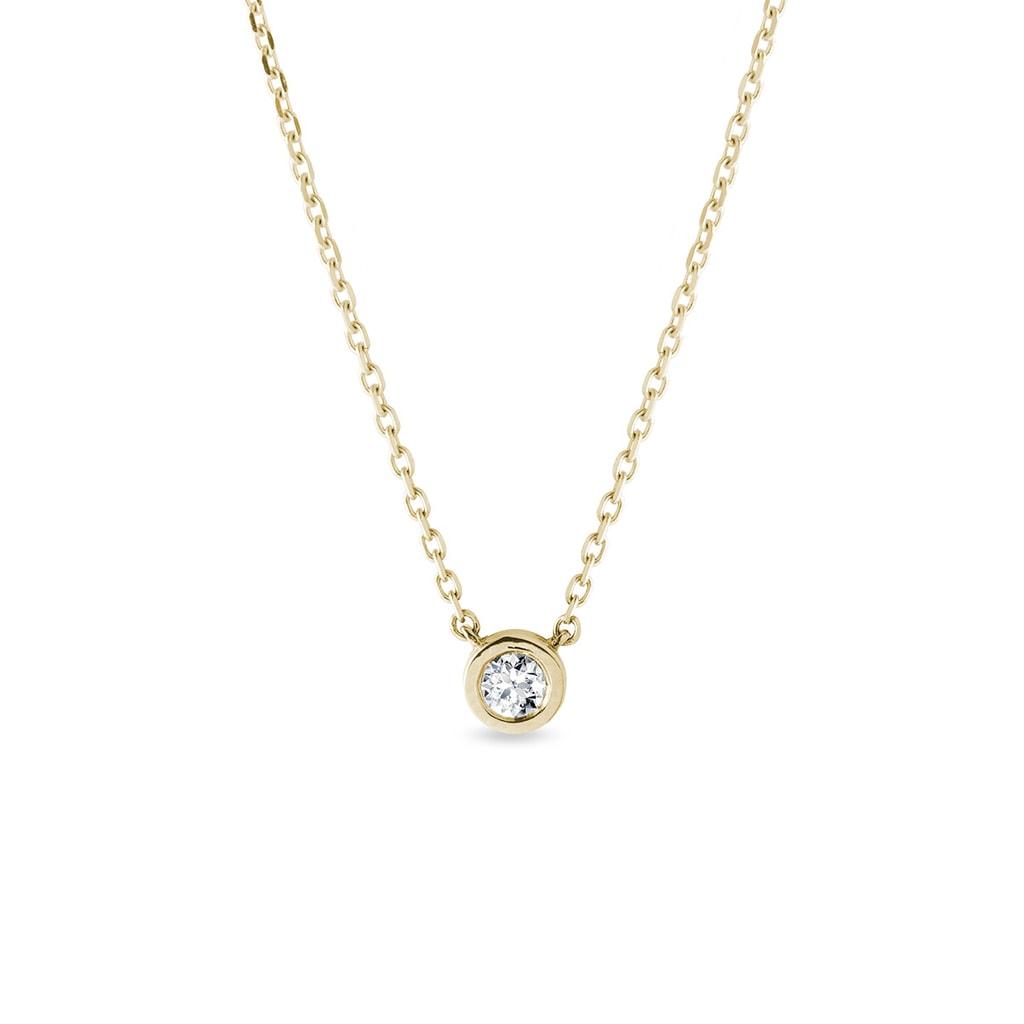 308fe5a4e Diamantový náhrdelník ve zlatě   KLENOTA