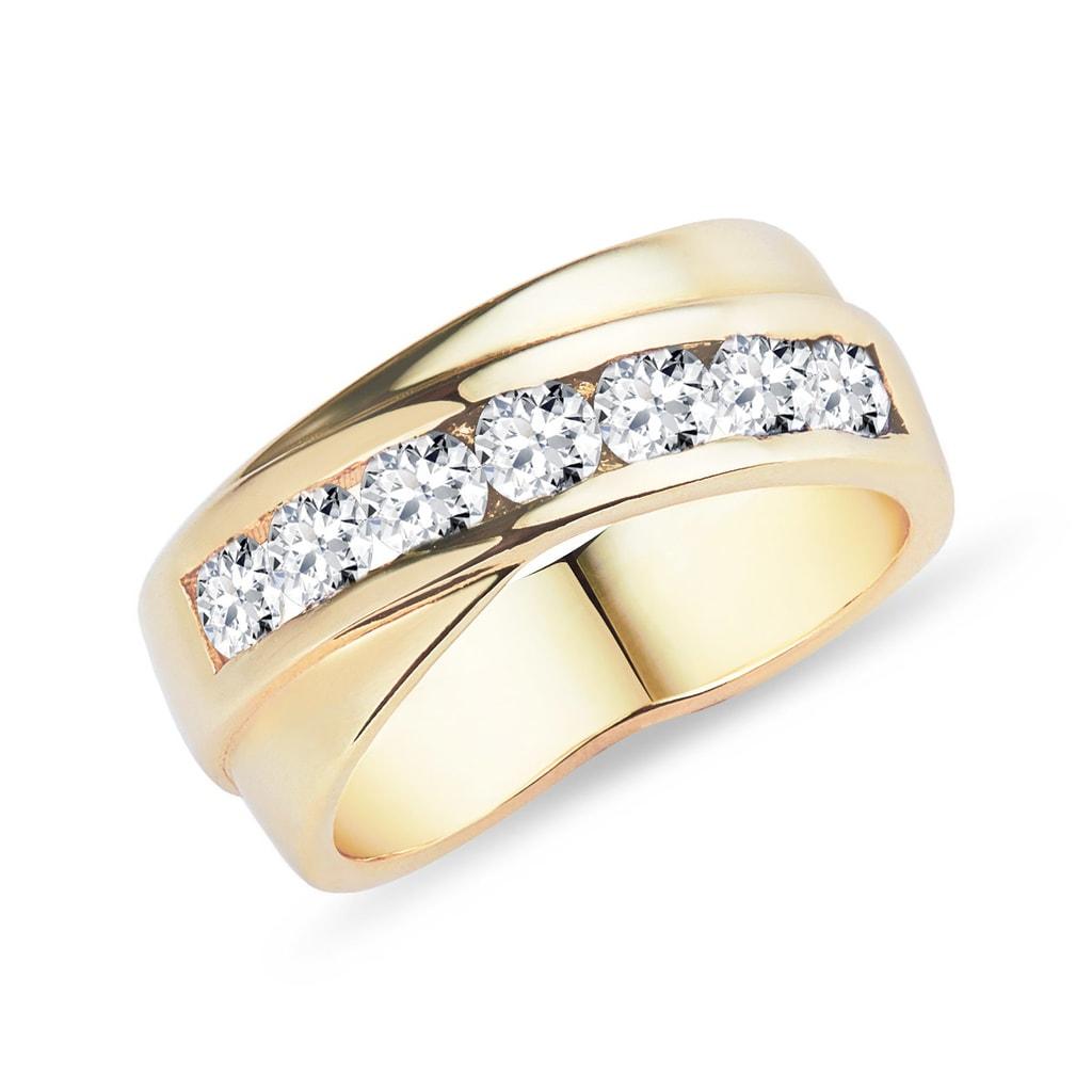 8c170e03c Briliantový prsteň zo žltého zlata | KLENOTA