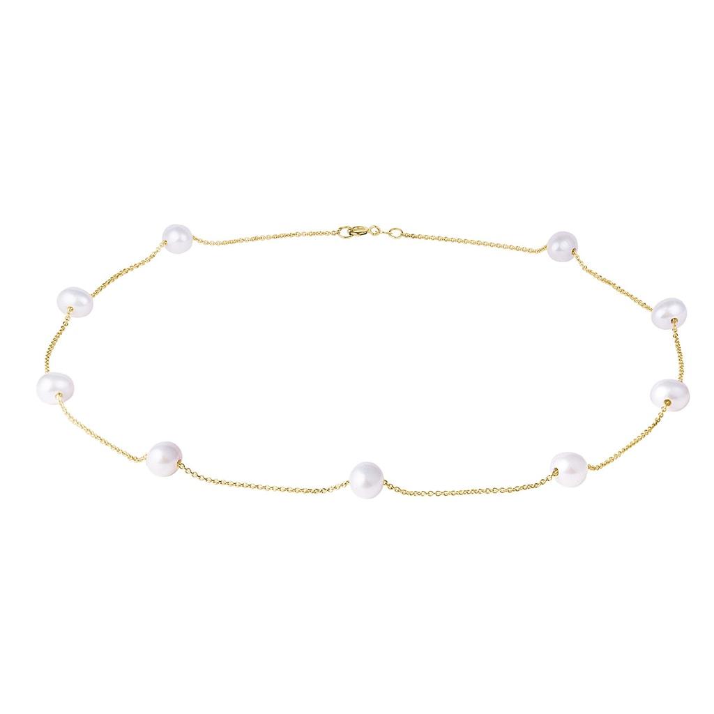 cb23cce9b Zlatý náhrdelník s perlami | KLENOTA