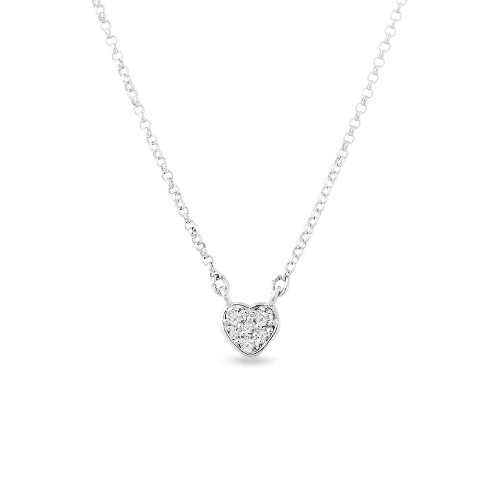 bb8f95db7 Diamantový prívesok z bieleho zlata v tvare srdca | KLENOTA