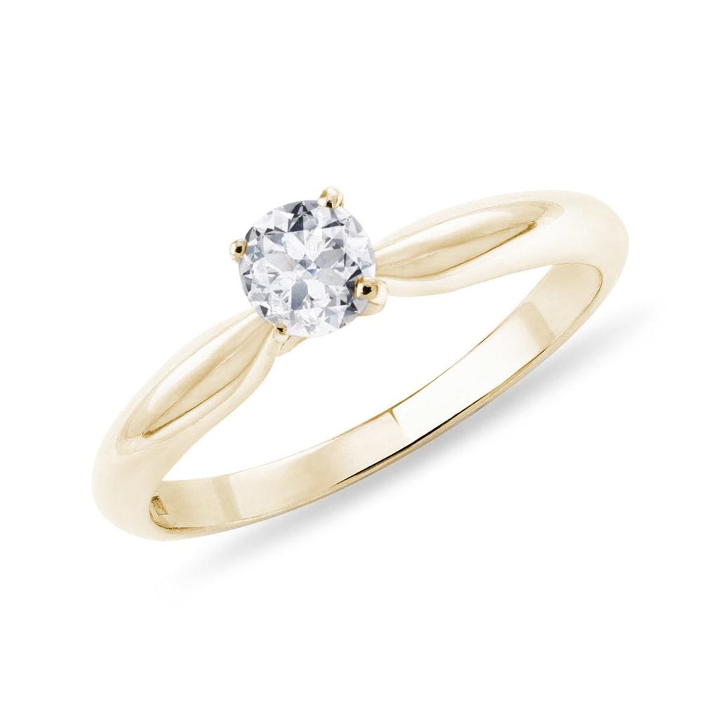 9c147a636 Zásnubný prsteň zo žltého zlata | KLENOTA