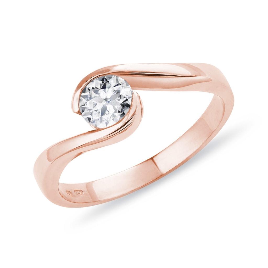 22ff2563a Zásnubný prsteň s briliantom | KLENOTA
