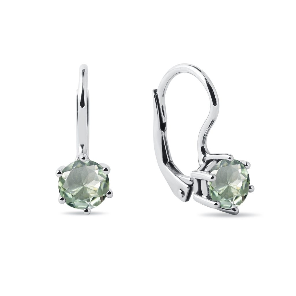 Green Amethyst Earrings