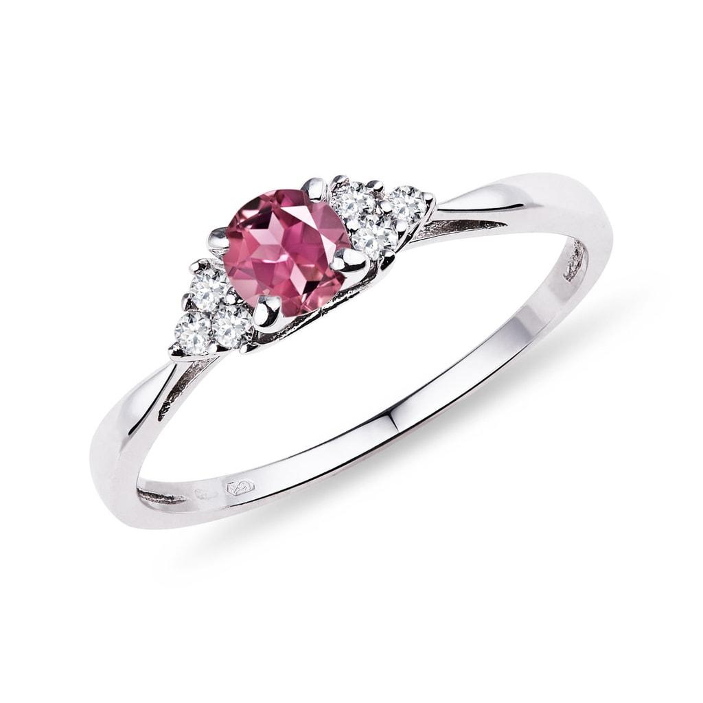 aa1d02096 Zlatý prsten s turmalínem a diamanty | KLENOTA