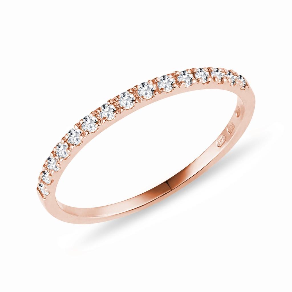 Diamond Ring In Rose Gold Klenota