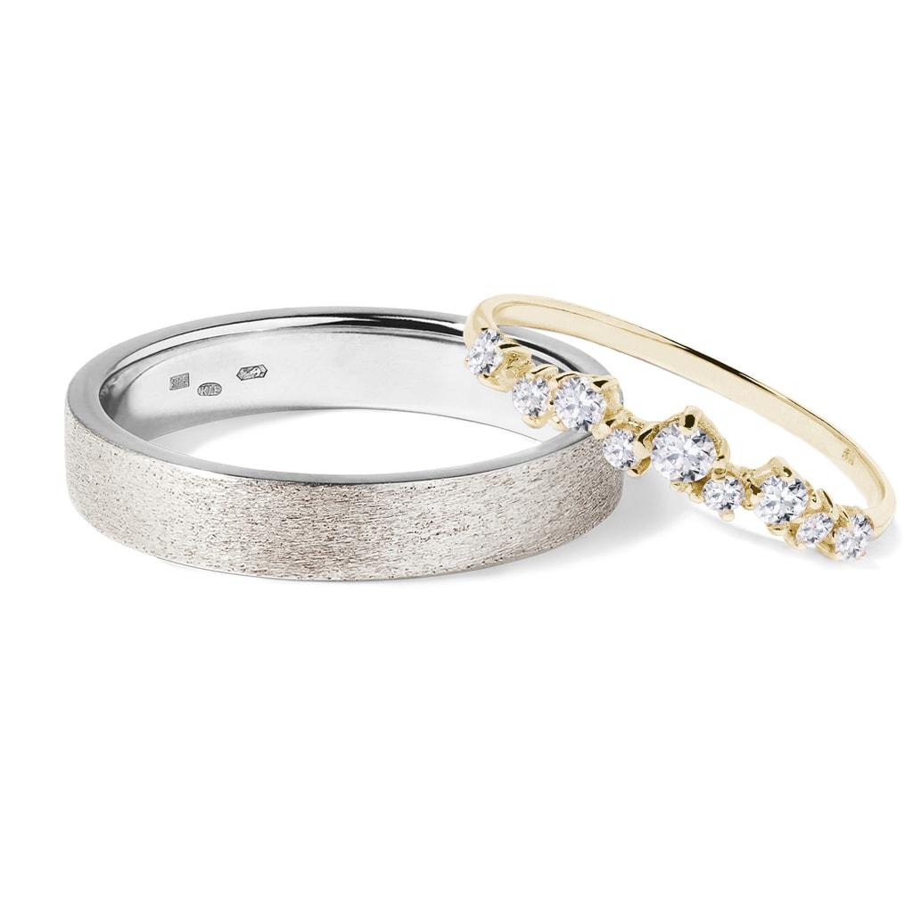 Cudowna Złote obrączki z diamentami | KLENOTA YT94