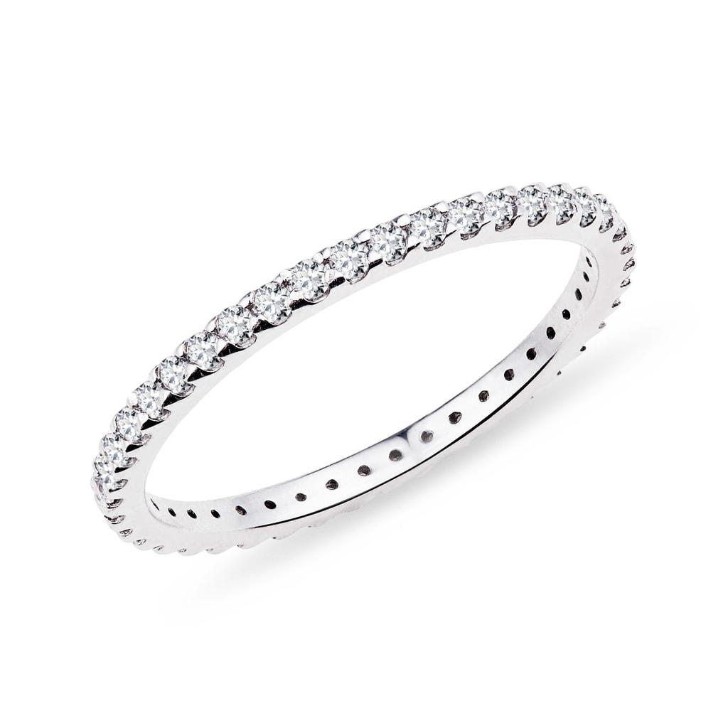 55120e413 Briliantový prsteň z bieleho zlata | KLENOTA
