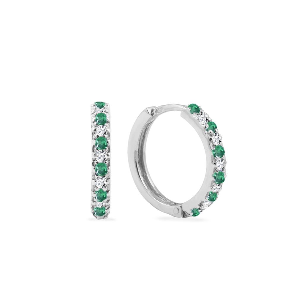 2108f5d78 Zlaté náušnice s diamanty a smaragdy | KLENOTA