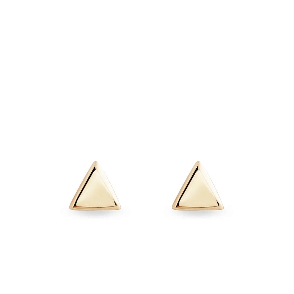 aaaef1cd3 Zlaté náušnice v tvare trojuholníkov   KLENOTA