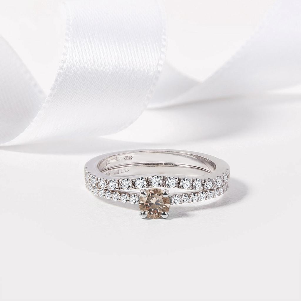 Sterling Silver Champagne Bracelet en diamant 1 carat