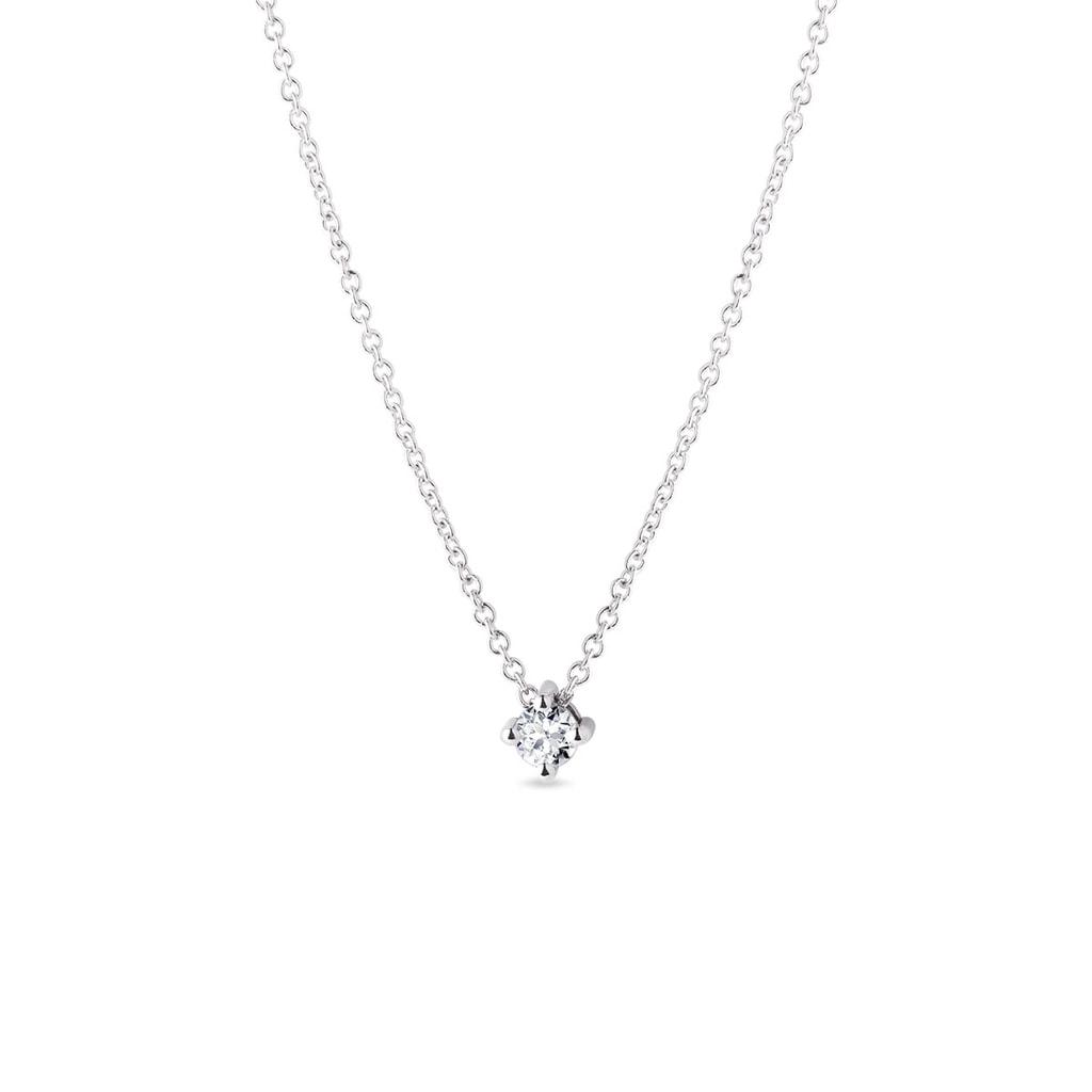 781a62f90 Jemný náhrdelník z bílého zlata s briliantem   KLENOTA