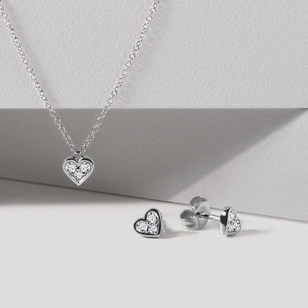 Minimalist silver heart necklace with citrine Valentine/'s day gift idea