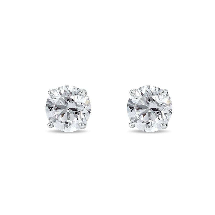 62697659c Diamantové napichovacie náušnice zo striebra | KLENOTA