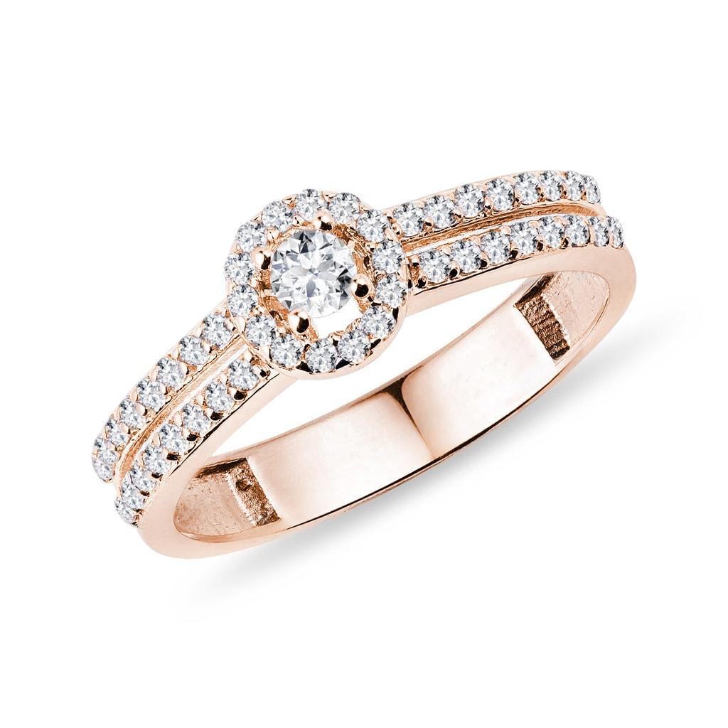 44b709723 Zlatý zásnubný prsteň s diamantmi | KLENOTA