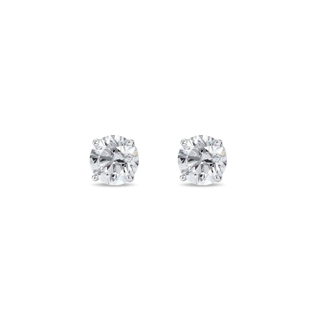 1005a49f8 Strieborné náušnice diamant   KLENOTA